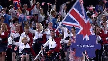 rio paralympics 2016: great britain arrive at opening ceremony