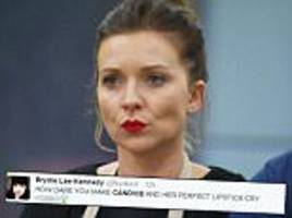great british bake off's candice's scarlet red for bread week lipstick divides twitter