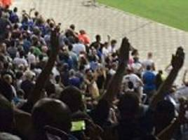 jewish fans met with nazi salutes as italian supporters boo israel's national anthem during world cup qualifier