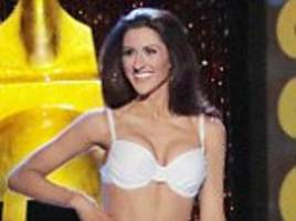 miss america's first ever openly lesbian contestant erin o'flaherty appears on stage