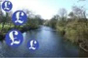 £100k and fishing rights for this stretch of the river exe...