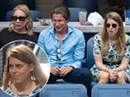 enjoying a day off, beatrice? princess finds time in her busy schedule to join hollywood a-listers watching the tennis action unfold at the us open