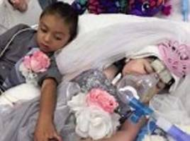 five-year-old cystic fibrosis sufferer gets dream wedding hours before dying