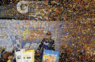 federated auto parts 400 result: denny hamlin wins at richmond