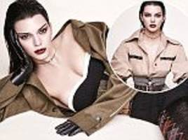 kendall jenner flashes her cleavage in risqué black basque for vogue germany