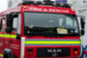 middle-aged man treated for smoke inhalation after house fire