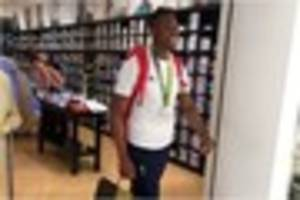 olympic silver medallist spotted on 'free' shopping spree in...