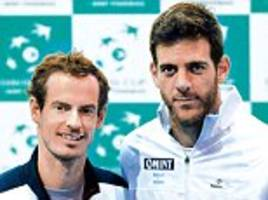 davis cup 2016 live: tennis results and scores with andy murray, del potro and more