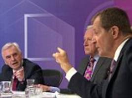 'you're a f****** a*******!': labour civil war explodes behind the scenes of bbc's question time as john mcdonnell and alastair campbell almost come to blows
