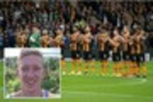 hull city and arsenal fans in minute's applause for tragic daniel...