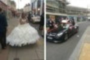 what was this bride doing in cheltenham high street?