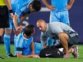 frank lampard goes off with calf injury as new york city are held by dallas in major league soccer