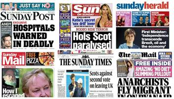 scotland's papers: indyref poll and hospital bacteria warning