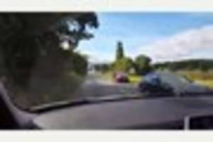 VIDEO: Cop releases video from the front of a police car on a...