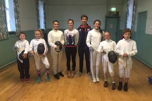 olympian jamie cooke visits scottish saltires modern pentathlon club stewartry branch