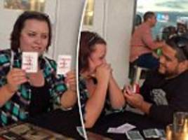 magician proposes to girlfriend during card trick