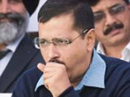 kejriwal's lost his voice! delhi cm off work sick after chronic cough leaves him needing throat surgery