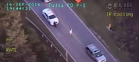 Black Man Had Hands Up When Tulsa Cop Killed Him (Video)