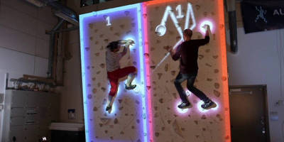 This AR Pong game lets you be the paddle – on a climbing wall