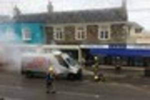 Praise for hero firefighters after van catches  fire in...