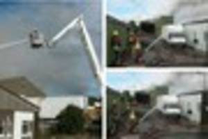 These pictures show firefighters from across the South West...