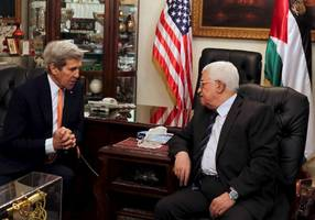kerry and abbas meet in new york, discuss syria