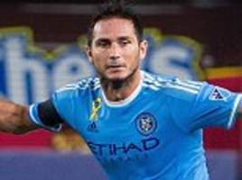 frank lampard ruled out for four weeks with calf strain and could miss rest of mls season