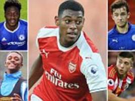 from arsenal's jeff reine-adelaide to manchester united's timothy fosu-mensah... sportsmail looks at 15 young stars aiming to step up in efl cup