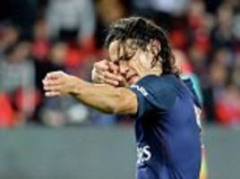 psg 3-0 dijon: edinson cavani scores from the spot as reigning champions go top of ligue 1