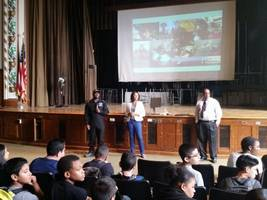 Youngest Person, First Black Man to Fly Around the World Visits New Rochelle School