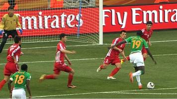yaya toure's 2010 world cup goal for ivory coast against north korea