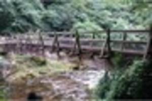 National park footbridge declared unsafe for public to use