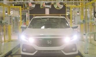 2017 honda civic x hatchback enters production in the uk, here's the video