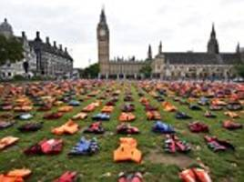 migration poses the gravest threat since 1945. we need answers - not stunts like the parliament square lifejackets