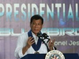 Philippines' Duterte gives middle finger to EU
