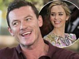 Luke Evans learned of Emily Blunt's pregnancy during The Girl On The Train filming