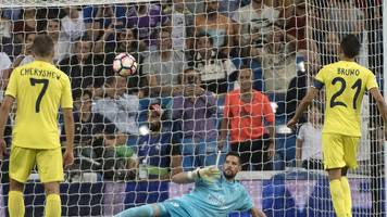 real miss out on record after being held to draw by villarreal