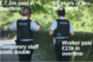 Police overtime bill comes to £7.5 million as 32 years of...