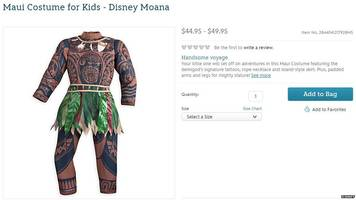 Disney accused of 'brownface' over Moana costume