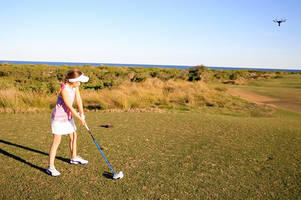 Australian child golf prodigy takes down drone with a single swing of her club