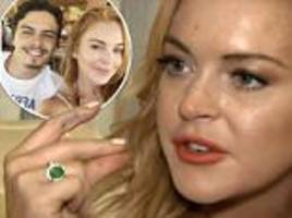 Lindsay Lohan says 'abusive' Russian toyboy ex is a lazy layabout