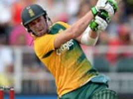 AB de Villiers to sit out South Africa's clash with Ireland as he bids to recover from elbow injury