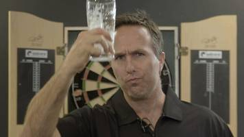 champions league of darts: michael vaughan takes on nine-dart challenge