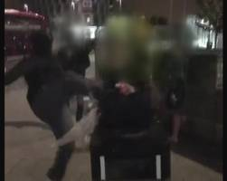 'homeless man kicked' video investigated by police