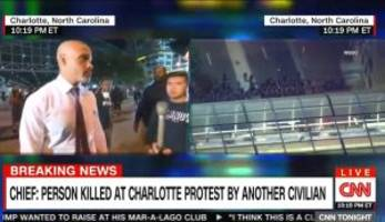 Charlotte Protester Tells CNN: Most of the Country Are Not 'Donald Trump People'