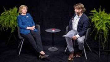 Hillary Clinton gets bristly on Zach Galifianakis' 'Between Two Ferns'