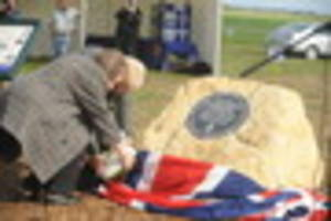 cambridge news published moving memorial held for a spitfire pilot killed in cambridgeshir...