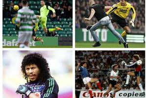 Celtic No1 Craig Gordon launches kung fu tackle on Alloa striker but was it as crazy as these kamikaze keepers?