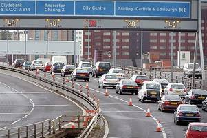 Traffic chaos on M8 motorway after early morning crash causes seven mile queues