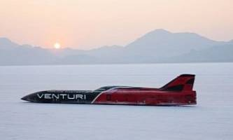Venturi Sets New Land Speed Record With An Electric Vehicle - 341 MPH